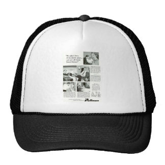 Pullman Sleeping Car was for overnight Trains Mesh Hat