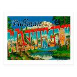 Pullman, Washington - escenas grandes de la letra Tarjeta Postal
