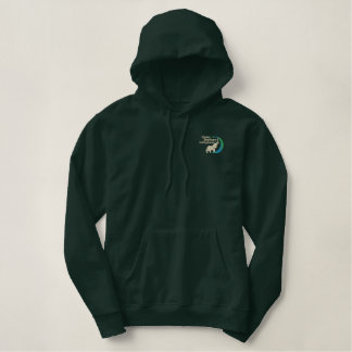 Pullover hoodie in army green
