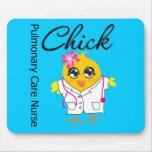 Pulmonary Care Nurse Chick v2 Mousepad
