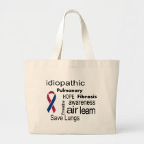 Pulmonary Fibrosis Awareness Binder Large Tote Bag