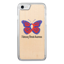 Pulmonary Fibrosis Awareness Butterfly Carved iPhone 7 Case