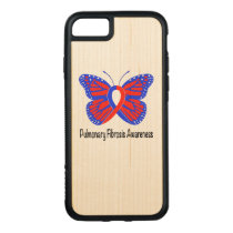 Pulmonary Fibrosis Awareness Butterfly Carved iPhone 8/7 Case