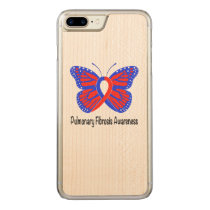 Pulmonary Fibrosis Awareness Butterfly Carved iPhone 8 Plus/7 Plus Case
