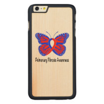 Pulmonary Fibrosis Awareness Butterfly Carved Maple iPhone 6 Plus Case