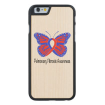 Pulmonary Fibrosis Awareness Butterfly Carved Maple iPhone 6 Slim Case