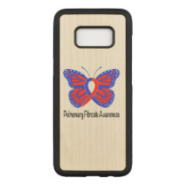Pulmonary Fibrosis Awareness Butterfly Carved Samsung Galaxy S8 Case