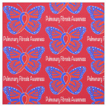 Pulmonary Fibrosis Awareness Butterfly Fabric