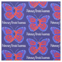 Pulmonary Fibrosis Awareness Butterfly Fabric