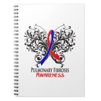 Pulmonary Fibrosis Awareness Butterfly Note Books
