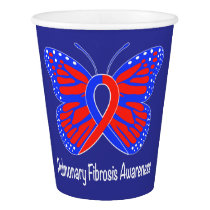 Pulmonary Fibrosis Awareness Butterfly Paper Cup