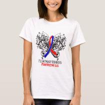 Pulmonary Fibrosis Awareness Butterfly T-Shirt