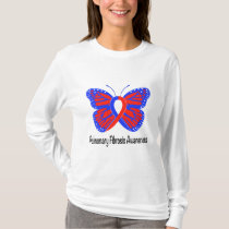 Pulmonary Fibrosis Awareness Butterfly T-Shirt