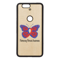 Pulmonary Fibrosis Awareness Butterfly Wood Nexus 6P Case