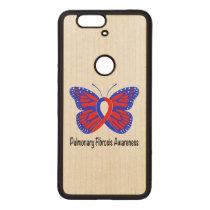 Pulmonary Fibrosis Awareness Butterfly Wood Nexus 6P Case