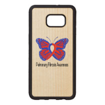 Pulmonary Fibrosis Awareness Butterfly Wood Samsung Galaxy S6 Edge Case