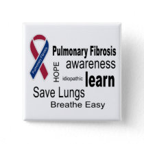 Pulmonary Fibrosis Awareness Button