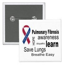 Pulmonary Fibrosis Awareness Button