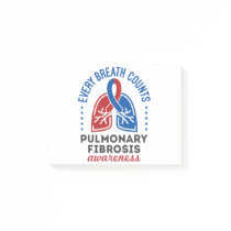 Pulmonary Fibrosis Awareness Every Breath Counts Post-it Notes
