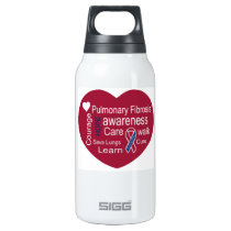 Pulmonary Fibrosis Awareness Insulated Water Bottle