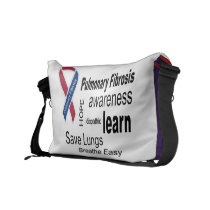 Pulmonary Fibrosis Awareness Messenger Bag