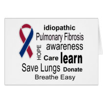 Pulmonary Fibrosis Awareness Note Card