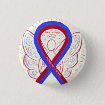 Pulmonary Fibrosis Awareness Ribbon Angel Pins