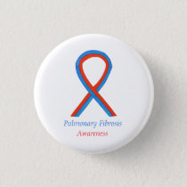 Pulmonary Fibrosis Awareness Ribbon Button Pins