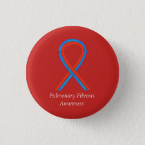 Pulmonary Fibrosis Awareness Ribbon Button Pins