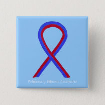 Pulmonary Fibrosis Awareness Ribbon Pin Buttons