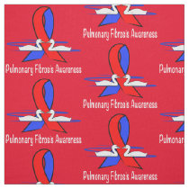 Pulmonary Fibrosis Awareness Swans of Hope Fabric
