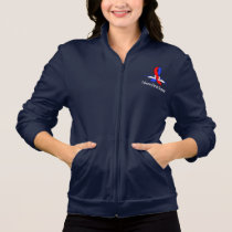 Pulmonary Fibrosis Awareness Swans of Hope Jacket
