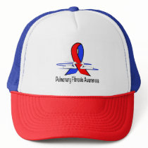 Pulmonary Fibrosis Awareness Swans of Hope Trucker Hat
