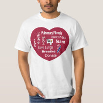 Pulmonary Fibrosis Awareness T-shirt