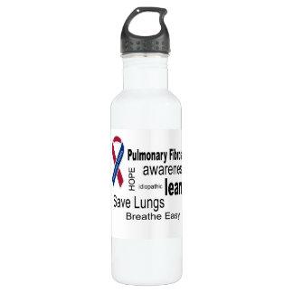 Pulmonary Fibrosis Awareness Water Bottle. 24oz Water Bottle