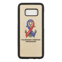 Pulmonary Fibrosis Awareness with Anchor of Hope Carved Samsung Galaxy S8 Case
