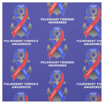Pulmonary Fibrosis Awareness with Anchor of Hope Fabric