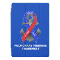 Pulmonary Fibrosis Awareness with Anchor of Hope iPad Pro Cover