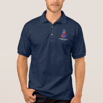 Pulmonary Fibrosis Awareness with Anchor of Hope Polo Shirt