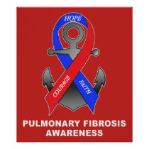 Pulmonary Fibrosis Awareness with Anchor of Hope Poster