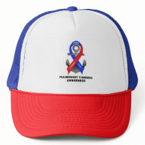 Pulmonary Fibrosis Awareness with Anchor of Hope Trucker Hat