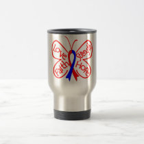 Pulmonary Fibrosis Butterfly Inspiring Words Travel Mug