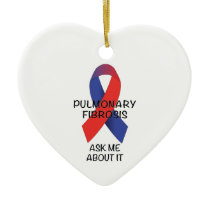 Pulmonary Fibrosis Ceramic Ornament