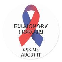 Pulmonary Fibrosis Classic Round Sticker