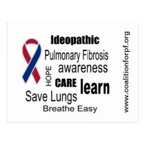 Pulmonary Fibrosis Disease Awareness Postcard