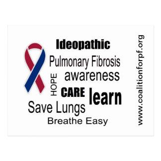 Pulmonary Fibrosis Disease Awareness Postcard