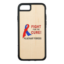 Pulmonary Fibrosis Fight for the Cure Carved iPhone 8/7 Case