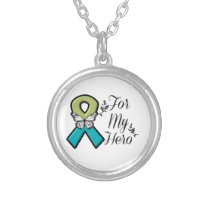 Pulmonary Fibrosis For My Hero Silver Plated Necklace