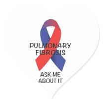 Pulmonary Fibrosis Heart Sticker