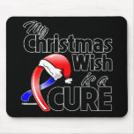 Pulmonary Fibrosis My Christmas Wish is a Cure Mouse Pad